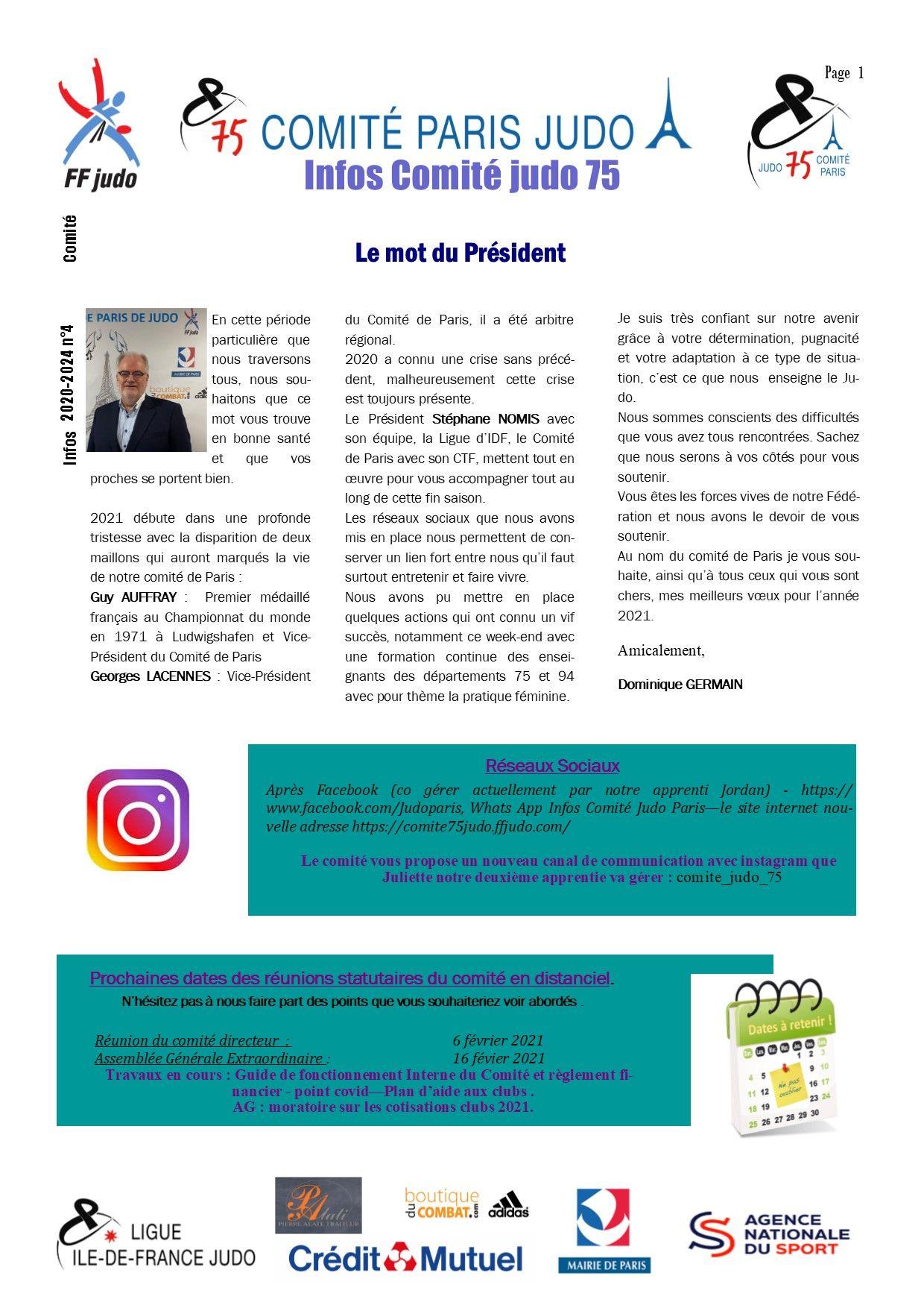 Image de la page 'Infos judo 75 - janvier 2021 -1'