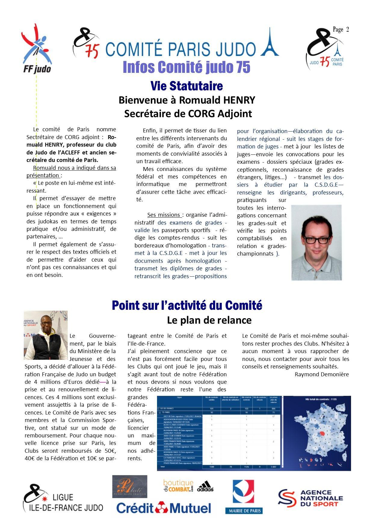 Image de la page 'Infos judo 75 - avril 2021- page 2'