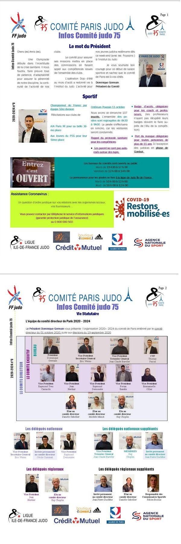 Image de la page 'Infos Comité 75 - octobre 2020'