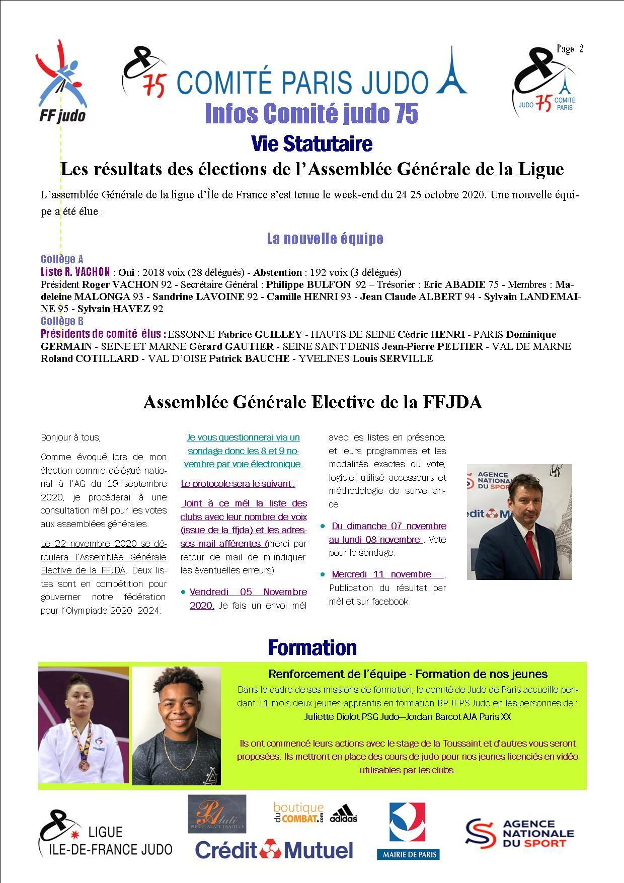 Image de la page 'Infos judo 75 - novembre 2020'