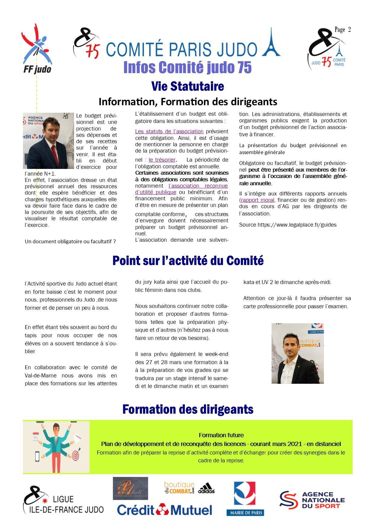 Image de la page 'Infos judo 75 - janvier 2021 -2'